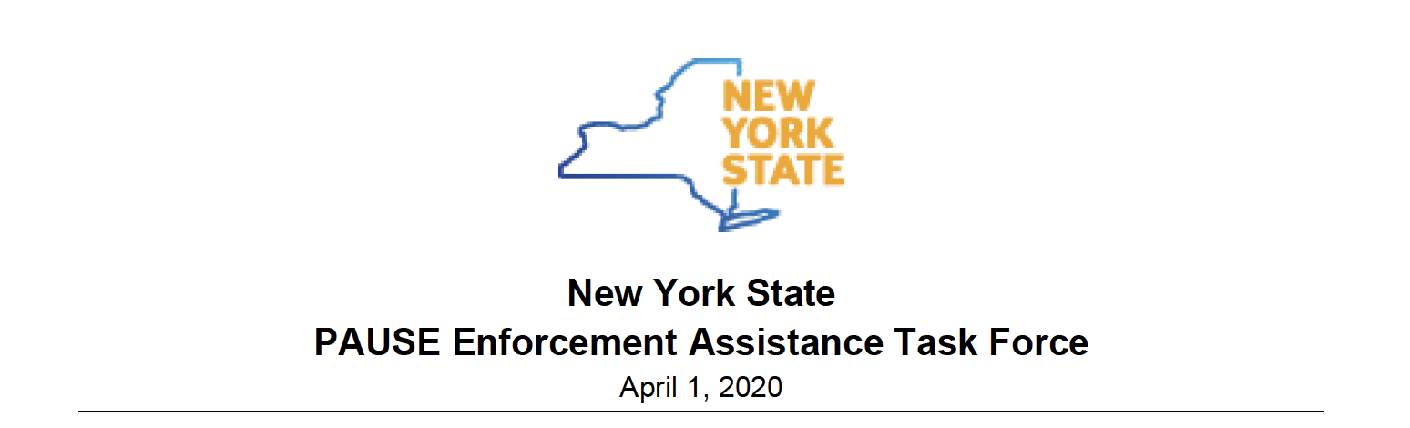 NYS Pause Enforcement Assistance Task Force