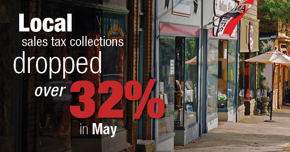 DiNapoli: Local Sales Tax Collections Drop Over 32 Percent in May